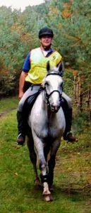 De auteur op zijn paard